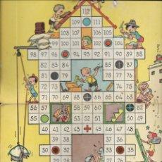 Juegos de mesa: *** K239 - ANTIGUA CARTULINA DE JUEGOS REUNIDOS - JUEGO DE LAS CONSTRUCCIONES. Lote 174188903
