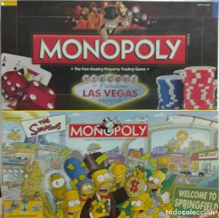 LOTE MONOPOLY SIMPSONS USA + MONOPOLY LAS VEGAS (Juguetes - Juegos - Juegos de Mesa)