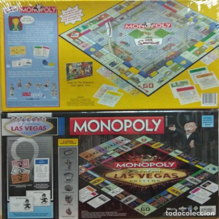 Juegos de mesa: Lote Monopoly Simpsons USA + Monopoly Las Vegas - Foto 2 - 174417780