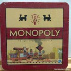 Juegos de mesa: MONOPOLY RETRO LATA METAL. Lote 174418303