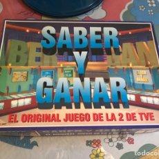 Juegos de mesa: JUEGO DE MESA SABER Y GANAR RTVE 1997. COMPLETO. Lote 174528577
