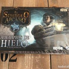 Juegos de mesa: EL SIMBOLO ARCANO - AUGURIOS DE HIELO - FFG - JUEGO DADOS - MITOS CTHULHU - LOVECRAFT. Lote 231572330