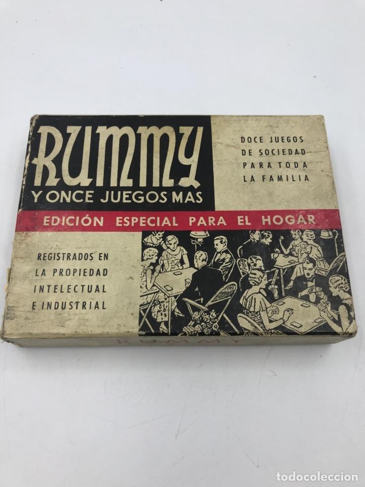 RUMMY Y ONCE JUEGOS MÁS FRANCISCO ROSELLO AÑOS 50 (Juguetes - Juegos - Juegos de Mesa)