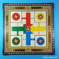 Juegos de mesa: BONITO TABLERO DE MADERA AJEDREZ / DAMAS Y PARCHIS AL DORSO, 40 X 40 CM. Lote 175753384