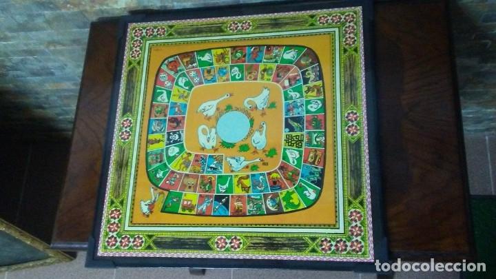 Juegos de mesa: ANTIGUO TABLERO JUEGO DE LA OCA PARCHÍS - Foto 2 - 176028398