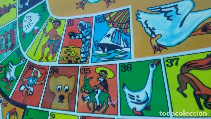 Juegos de mesa: ANTIGUO TABLERO JUEGO DE LA OCA PARCHÍS - Foto 3 - 176028398