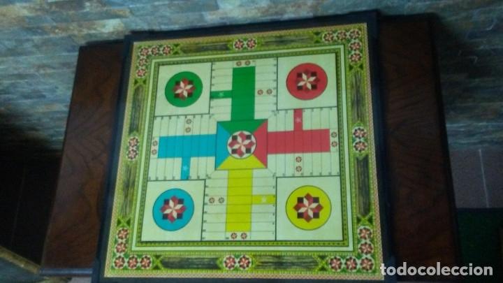 Juegos de mesa: ANTIGUO TABLERO JUEGO DE LA OCA PARCHÍS - Foto 9 - 176028398