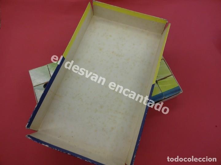 Juegos de mesa: Antiguo ROMPECABEZAS de AVIONES. Marca JEFE. Cubos de cartón litografiado. Años 1960. MBE - Foto 2 - 176104938
