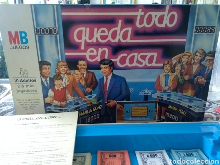 JUEGO VINTAGE .MB TODO QUEDA EN CASA EL POPULAR JUEGO DE MESA DE TVE 1986 BLOC PREGUNTAS CASI ENTERO (Juguetes - Juegos - Juegos de Mesa)