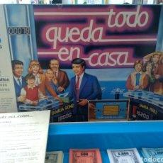 Juegos de mesa: JUEGO VINTAGE .MB TODO QUEDA EN CASA EL POPULAR JUEGO DE MESA DE TVE 1986 BLOC PREGUNTAS CASI ENTERO. Lote 176117579