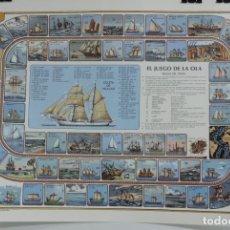 Juegos de mesa: CARTEL EL JUEGO DE LA OLA, PARECIDO AL JUEGO DE LA OCA PERO CON BARCOS HISTORICOS, A. MOLINS, GRAN T. Lote 176737353