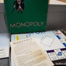 Juegos de mesa: MONOPOLY DE BORRAS CALLES BARCELONA EL VERDE COMPLETO ESCASO. Lote 177137053