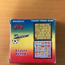 Juegos de mesa: JUGUETES SOCCER TRAVEL BINGO. Lote 177276750