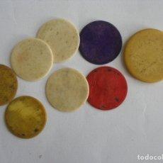 Juegos de mesa: ANTIGUAS FICHAS DE JUEGO EN PASTA D. Lote 177380567