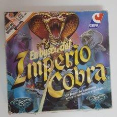 Juegos de mesa: JUEGO EN BUSCA DEL IMPERIO COBRA CEFA AÑOS 80 COMPLETO. Lote 177831004