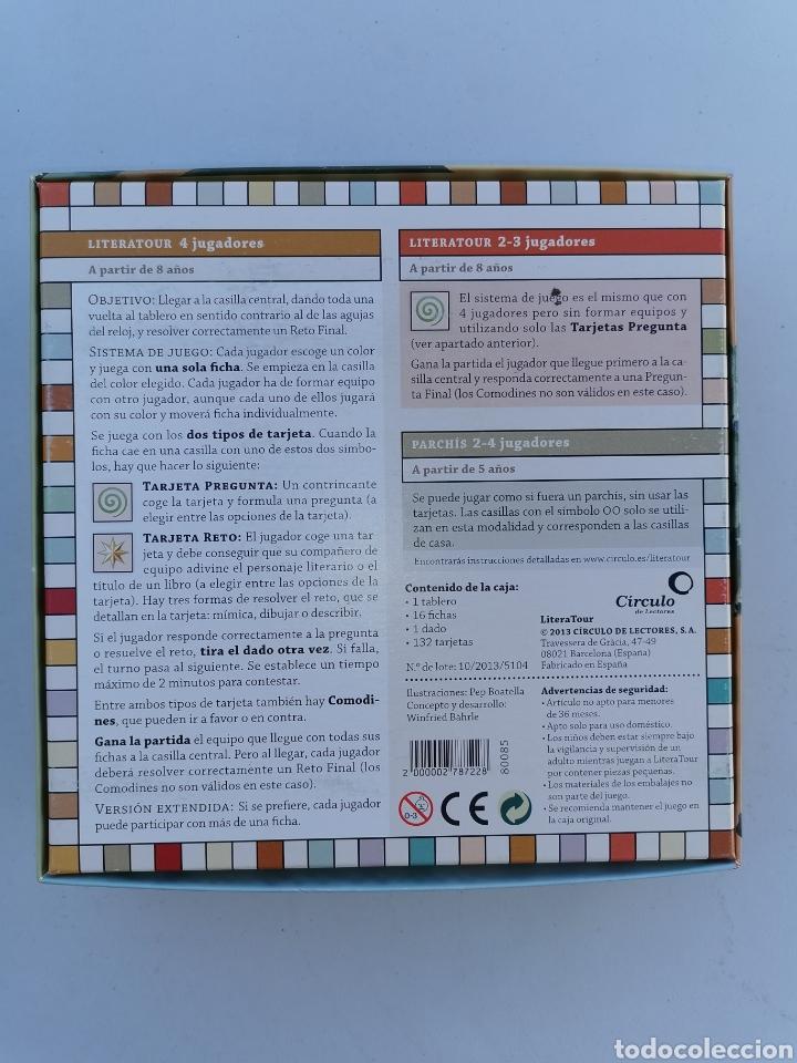 Juegos de mesa: LITERATOUR Un viaje alrededor del mundo de los libros. Círculo de lectores 2013 - Foto 2 - 177840273