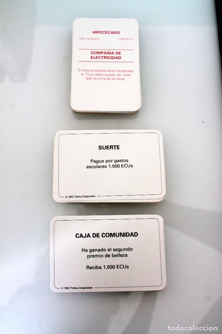Juegos de mesa: MONOPOLY VERSIÓN EUROPEA - PARKER 1991 - ULTRARRARO - CON ECUS - Foto 8 - 178305023