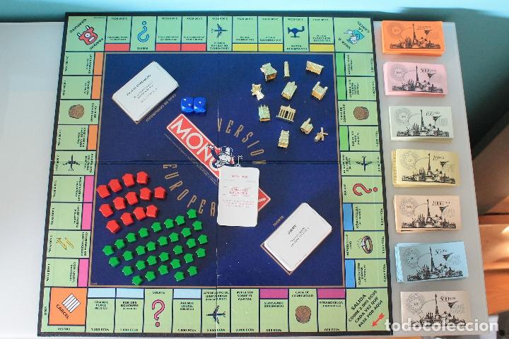Juegos de mesa: MONOPOLY VERSIÓN EUROPEA - PARKER 1991 - ULTRARRARO - CON ECUS - Foto 9 - 178305023