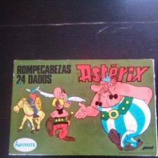 Juegos de mesa: ROMPECABEZAS DE ASTERIX Y OBÉLIX DE 24 DADOS PAPIROTS 1974 EDICIONES JMT. Lote 178335025