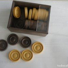 Juegos de mesa: FICHAS JUEGO DE DAMAS MADE IN SPAIN AÑOS 70 SIN USO. Lote 178559463
