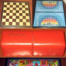 Juegos de mesa: AJEDREZ, LA OCA, HUNDIR LA FLOTA,DOMINO, 4 JUEGOS DE MESA COMPLETOS . Lote 178758558