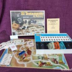 Juegos de mesa: JUEGO VINTAGE, EL TESTAMENTO DE MALONEY, COMPLETO, CON CAJA ORIGINAL E INSTRUCCIONES, 1989. Lote 178865073