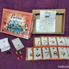 Juegos de mesa: JUEGO VINTAGE, PUEBLOS DE LA TIERRA, COMPLETO, CON CAJA ORIGINAL E INSTRUCCIONES. Lote 178865235