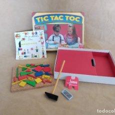 Juegos de mesa: JUEGO DE MESA CON PIEZAS DE MADERA, TIC - TAC - TOC, CON CAJA ORIGINAL E INSTRUCCIONES, JUMBO, 1988. Lote 178866437