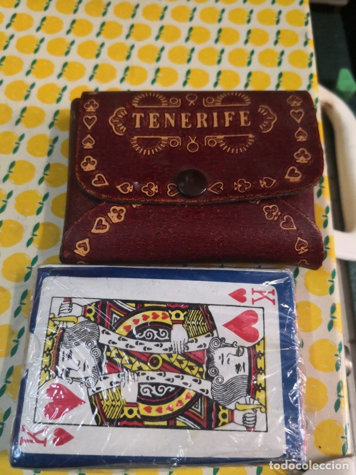 CARTAS CON ESTUCHE ACAETONADO TENERIFE SOUVENIRS AÑOS 70/80 (Juguetes - Juegos - Juegos de Mesa)