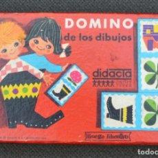 Juegos de mesa: JUEGO VINTAGE - DOMINO DE LOS DIBUJOS - DIDACTA - COMPLETO 28 PIEZAS. Lote 179060821