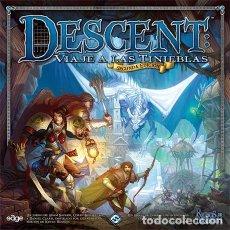 Juegos de mesa: DESCENT: VIAJE A LAS TINIEBLAS 2º ED JUEGO DE MESA. Lote 179144653