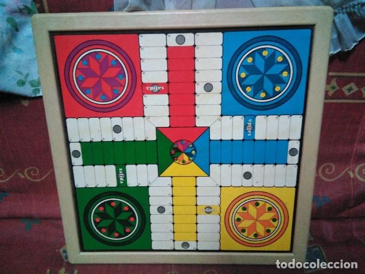 Juegos de mesa: tablero doble cara ajedrez y parchis - Foto 2 - 179204302