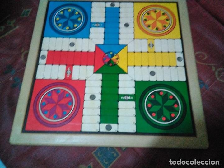 Juegos de mesa: tablero doble cara ajedrez y parchis - Foto 3 - 179204302