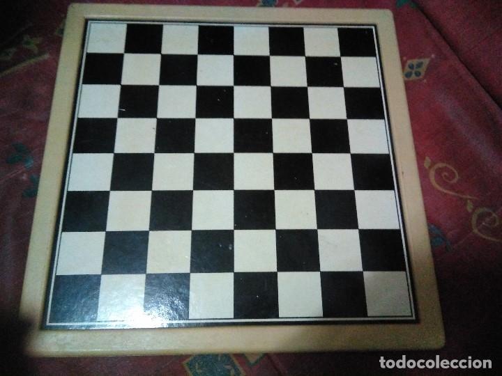 Juegos de mesa: tablero doble cara ajedrez y parchis - Foto 4 - 179204302