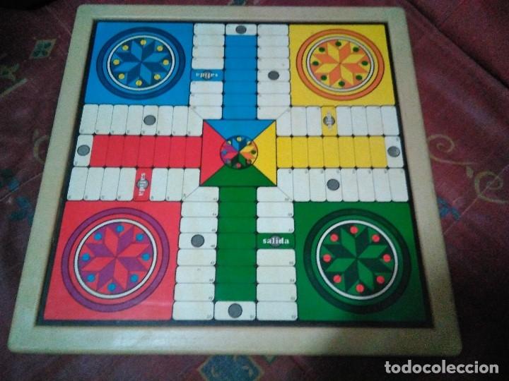 Juegos de mesa: tablero doble cara ajedrez y parchis - Foto 5 - 179204302