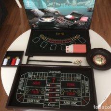 Juegos de mesa: CASINO 4 EN 1 - RULETA - BLACK JACK - DADOS Y POKER. Lote 179234790