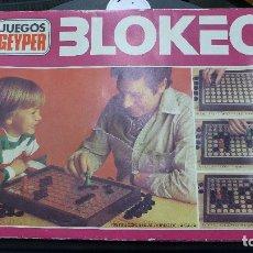 Juegos de mesa: BLOKEO DE JUEGOS GEYPER COMPLETO. Lote 179252317