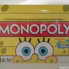 Juegos de mesa: MONOPOLY EDICIÓN BOB ESPONJA 2010. Lote 179939568