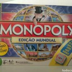 Juegos de mesa: MONOPOLY EDICIÓN MUNDIAL VOTADO POR EL PUBLICO EN PORTUGUÉS. Lote 179952421