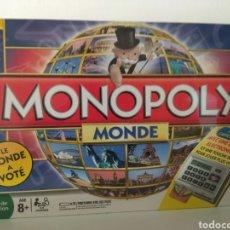 Juegos de mesa: MONOPOLY EDICIÓN MUNDIAL VOTADO POR EL PUBLICO EN FRANCÉS. Lote 179952661