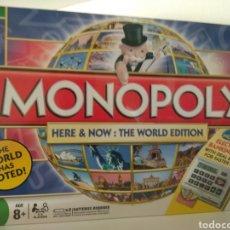 Juegos de mesa: MONOPOLY EDICIÓN MUNDIAL VOTADO POR EL PUBLICO EN INGLÉS. Lote 179953093