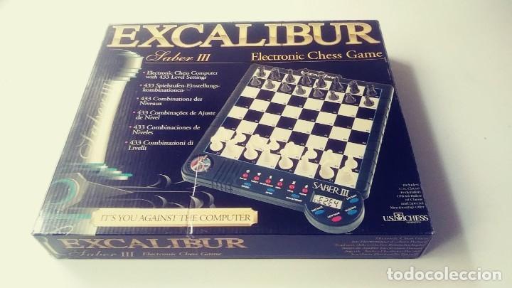 EXCALIBUR CHESS AJEDREZ ELECTRÓNICO SABER LLL (Juguetes - Juegos - Juegos de Mesa)
