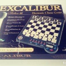 Juegos de mesa: EXCALIBUR CHESS AJEDREZ ELECTRÓNICO SABER LLL. Lote 180287778