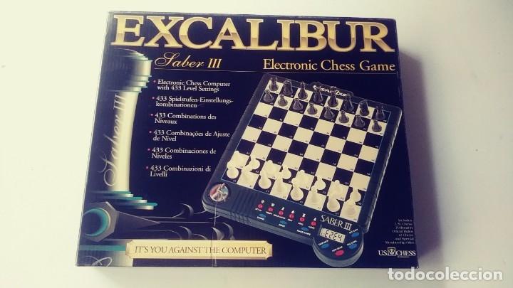 Juegos de mesa: Excalibur Chess ajedrez electrónico Saber lll - Foto 2 - 180287778