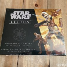 Juegos de mesa: STAR WARS LEGION - LAS GUERRAS CLON - SOLDADOS CLON FASE I - JUEGO MINIATURAS FFG. Lote 180990586
