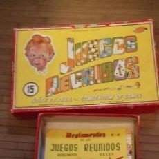 Juegos de mesa: JUEGOS REUNIDOS GEYPER - Nº 15 - AÑOS 50 - ANTIGUA CARA DE NIÑO EN LA TAPA. Lote 181232567