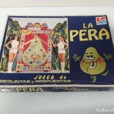 Juegos de mesa: LA PERA - JUEGO DE PREGUNTAS Y RESPUESTAS - TVE - DALMAU CARLES, PLA - D. C. P. Nº 604 . Lote 181793117