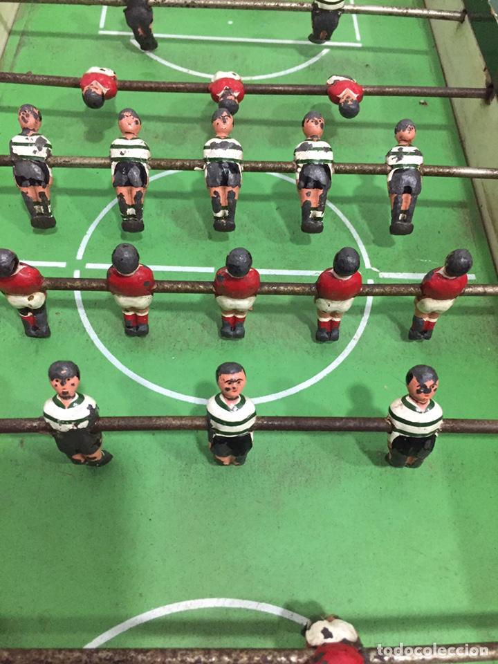Juegos de mesa: ANTIGUO Y PRECIOSO FUTBOLÍN EN MADERA Y ACERO MACIZO - Foto 6 - 182233723