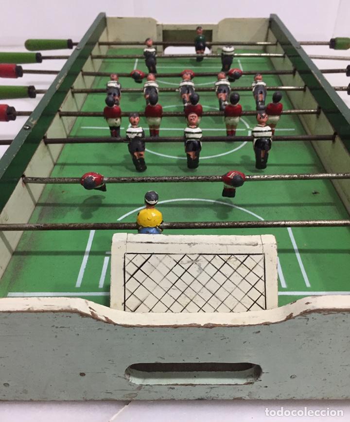 Juegos de mesa: ANTIGUO Y PRECIOSO FUTBOLÍN EN MADERA Y ACERO MACIZO - Foto 12 - 182233723