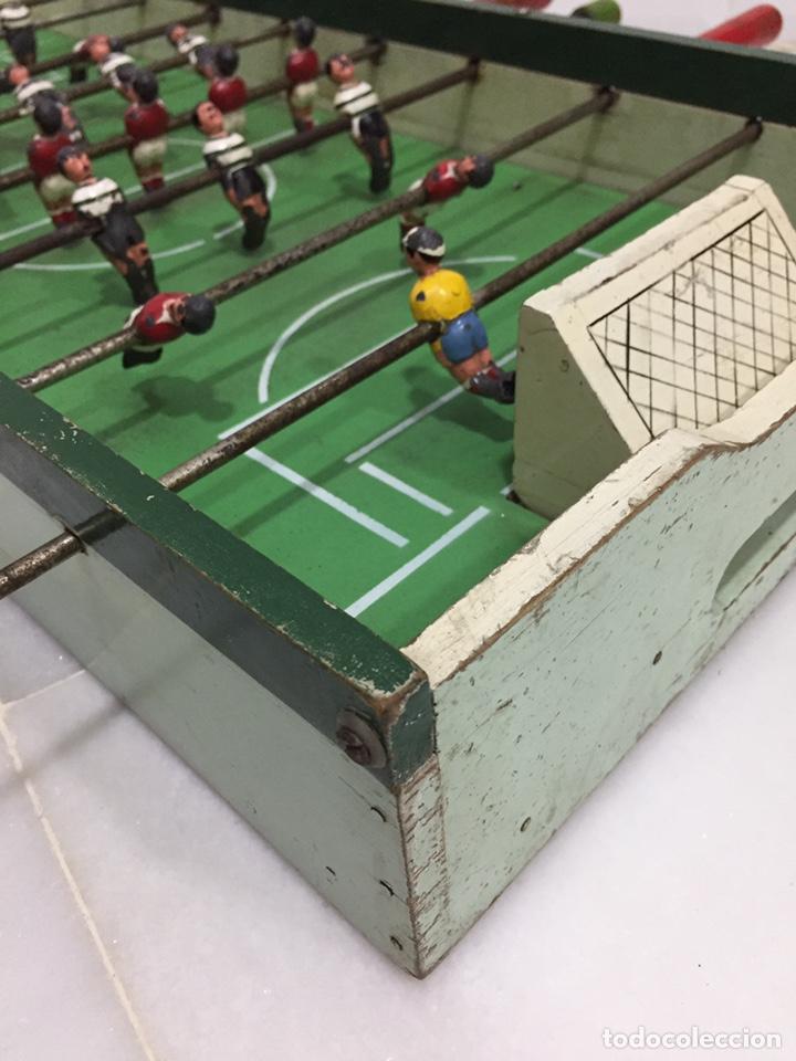 Juegos de mesa: ANTIGUO Y PRECIOSO FUTBOLÍN EN MADERA Y ACERO MACIZO - Foto 13 - 182233723